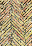 Broken brown brick floor Stock Images