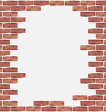 Broken brown brick wall, grunge texture background Royalty Free Stock Photography