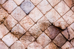 Broken Brown Rock wall for surface background Royalty Free Stock Photo