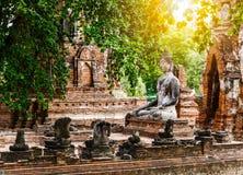 Broken buddha at Ayuttaya Stock Image