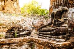 Broken Buddha at Ayuttaya Royalty Free Stock Photos