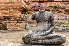 Broken Buddha at Ayuttaya Royalty Free Stock Image