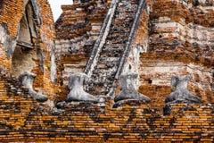 Broken buddha at Ayuttaya Stock Photos