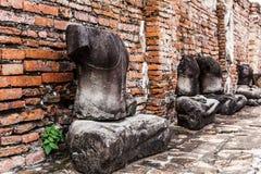 Broken buddha at Ayuttaya Royalty Free Stock Photo