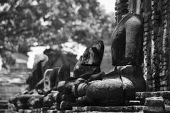 Broken Buddha Image at Ayutthaya Historical Park Royalty Free Stock Photos
