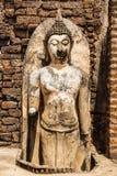 Broken buddha at srisatchanalai sukhothai Royalty Free Stock Images