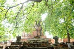 Broken Buddha statue Royalty Free Stock Images