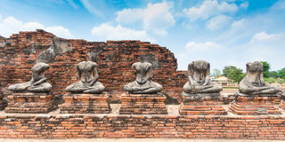 Broken Buddha statue at Ayuttaya Royalty Free Stock Photos