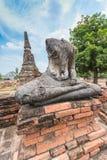 Broken Buddha statue at Ayuttaya Stock Images