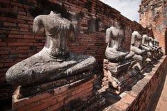Broken Buddha Statue at Wat Chaiwattanaram Ayutthaya, Thailand. Royalty Free Stock Photos