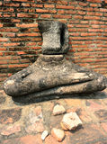 Broken Buddha Statue, Ayutthaya Royalty Free Stock Photos