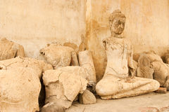 Broken Buddha statues Royalty Free Stock Photography