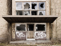 Broken building Royalty Free Stock Images