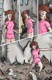 Broken building illustration Stock Photos