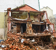 Broken building ruins Royalty Free Stock Photography