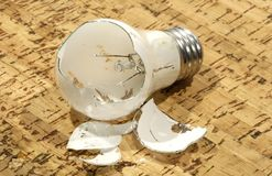 Broken Bulb Stock Image