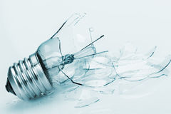 The broken bulb Royalty Free Stock Photography