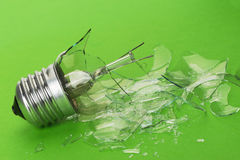 The broken bulb Stock Photos
