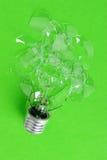 The broken bulb Royalty Free Stock Photos