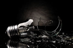 Broken bulb Royalty Free Stock Image