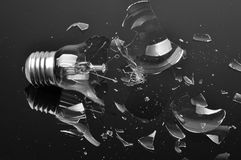 Broken bulb Stock Images