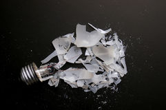 Broken bulb Royalty Free Stock Images