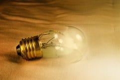 Broken bulb stock image