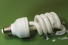 A broken bulb Stock Images