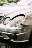 Broken Bumper Luxury Car Scratched With Deep Damage To Paint. Ab Stock Photo