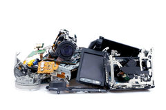 Broken camcorder arkivfoton