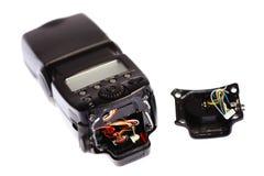 Broken camera flash Stock Image
