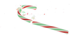 Broken Candy Cane Stock Image