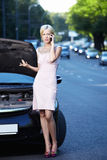 In the broken car Royalty Free Stock Photography
