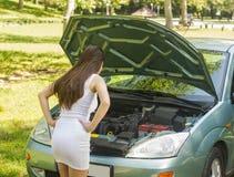 Broken car Royalty Free Stock Images