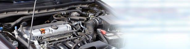 Broken car engine. Royalty Free Stock Photo