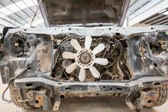 Broken car. In the garage Stock Image