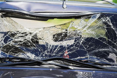 Broken car glass Royalty Free Stock Photo