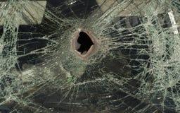 Broken car glass. Stock Photos
