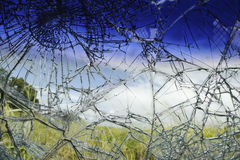 Broken Car Glass after accident Royalty Free Stock Images