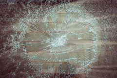 Broken car glass cracked glass effect Royalty Free Stock Photography