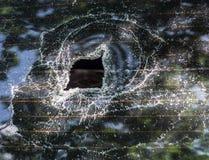 Broken car glass Stock Photo
