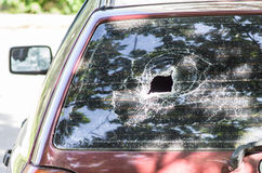 Broken car glass Royalty Free Stock Image