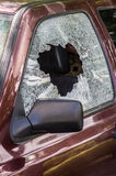 Broken car glass Royalty Free Stock Image