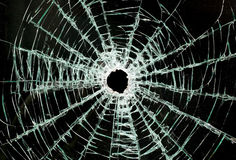 Broken car glass of windscreen Royalty Free Stock Image