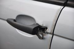 Broken car lock Royalty Free Stock Images