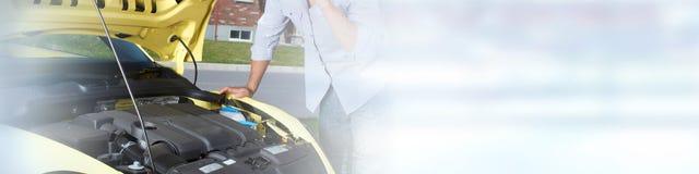 Broken car repair Royalty Free Stock Photography