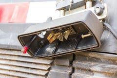 Broken car tail light Stock Photos