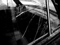Broken Car Window Royalty Free Stock Images