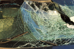 Broken car window Royalty Free Stock Photo