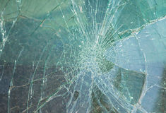 Broken car window glass Royalty Free Stock Image
